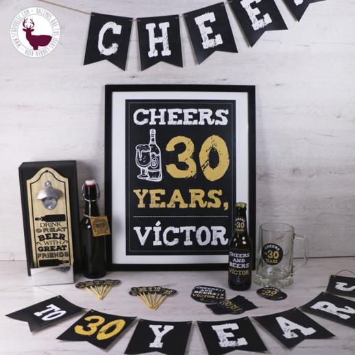 """Pack cumpleaños """"Cheers & Beers"""""""