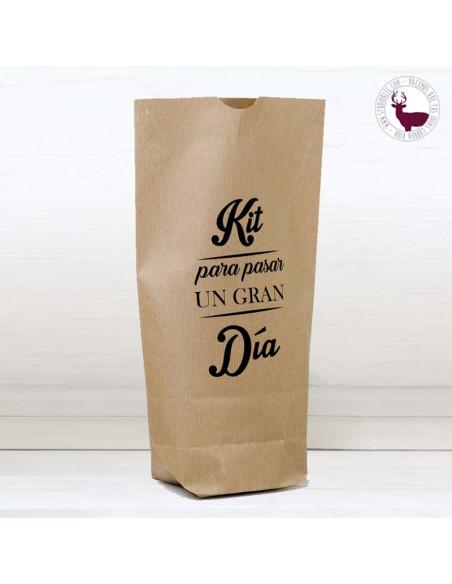 Bolsa de papel para crear un kit de regalo para tu boda.