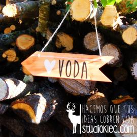Flecha de madera vintage