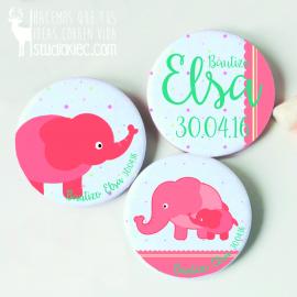 Chapitas Bautizo Elefantes