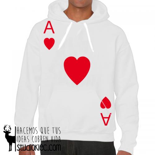 Sudadera Poker As Corazones