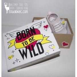 Patucos Born to be wild rosa