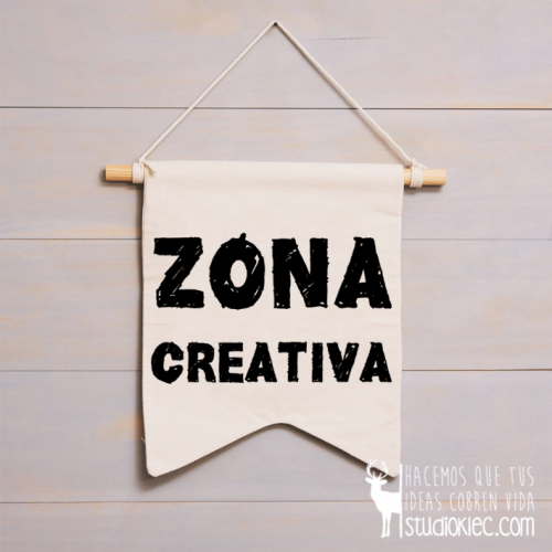 "Banderola decorativa ""Zona creativa"""